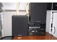 pair of Wharfedale Diamond II speakers with Sony STR-55D receiver