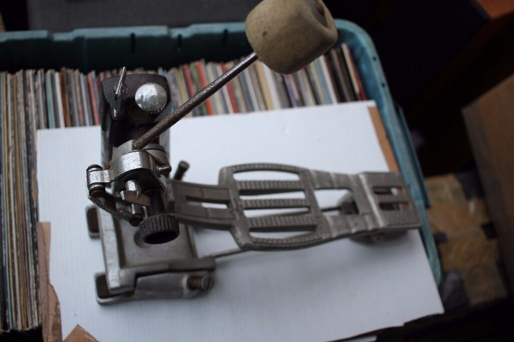 Premier 252 compression single bass drum pedal - '80s - later vented- footbard model