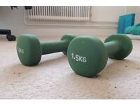 Very new 1.5kg Fitness Mad dumbbells for sale (low price!)