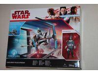 Star Wars The Last Jedi CANTO BIGHT POLICE SPEEDER vehicle + 3.75-inch Action Figure (Hasbro 2017)