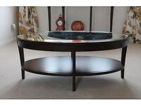 New Marks & Spencer Solid Wood Coffee Table With Mirrored Top