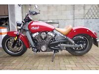 2016 Indian Scout 1133cc With Stage One Kit