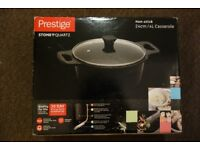 NEW Prestige Stone Quartz Non-Stick Casserole Dish 24cm - Boxed, never used