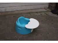 Bumbo Seat With Tray, Blue, Very good