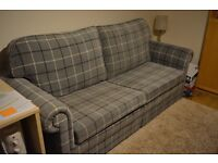 Large 3 1/2 seater recently upholstered full double bed settee with new cushions, offers welcome