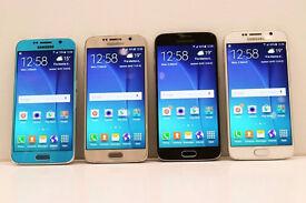 SAMSUNG GALAXY S6 BLACK, WHITE, BLUE, GOLD GRADE A - SIM FREE UNLOCKED TO ANY NETWORK