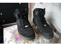 Use shoes trainers air force 1 black brown suede size 5