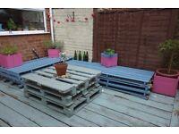 Wooden pallets garden lounge