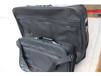PAIR OF VINTAGE DELSEY SUITCASES