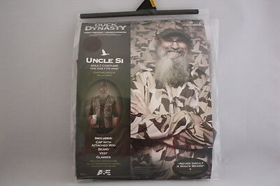 DUCK DYNASTY UNCLE SI ADULT HALLOWEEN COSTUME HAT W WIG BEARD VEST GLASSES - Duck Dynasty Halloween Costumes Uncle Si