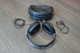 Skullcandy RocNation Aviator over-ear folding Headphones with soft case and flight adapter