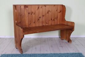 SOLID PINE RUSTIC BENCH WITH AGE RELATED MARKS HEAVY AND STURDY - CAN COURIER