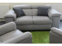 New !! Real Leather Large Two and Two Chair Sofa Set