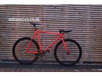 Special Offer GOKU CYCLES Steel Frame Single speed road bike TRACK bike fixed gear fixie bike w7
