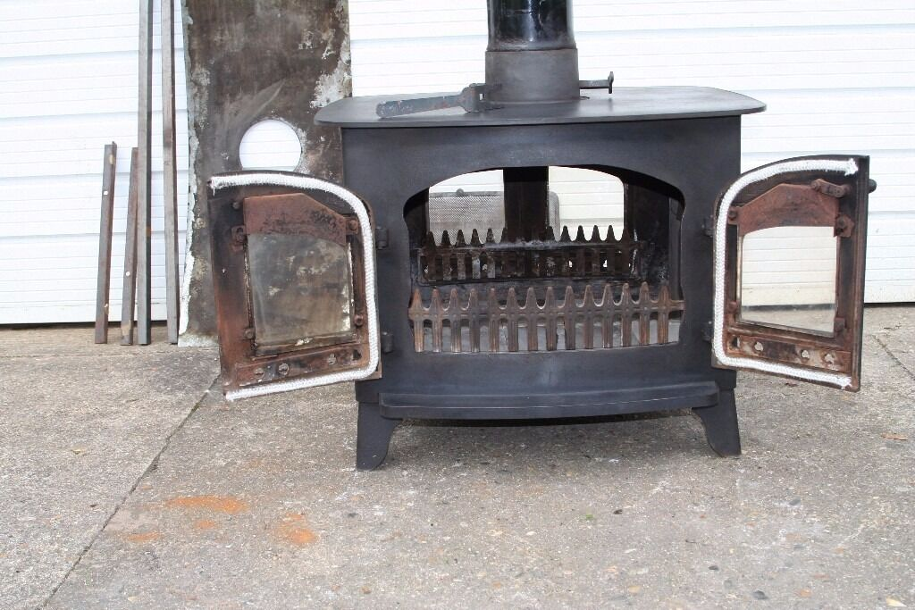 Double Sided Villager A Flat Top Wood Burning Stove 14kw