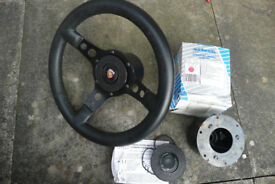 Astrali leather steering wheel with 2 hubs