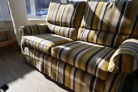 Multi York three seat sofas - pair