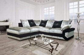 CALL US---Crushed Velvet ino SOFA-- BOTH LEFT AND RIGHT HAND SIDE AVAILABLE IN STOCK