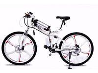Brand New Electric Folding Bike Go Go Jedi White