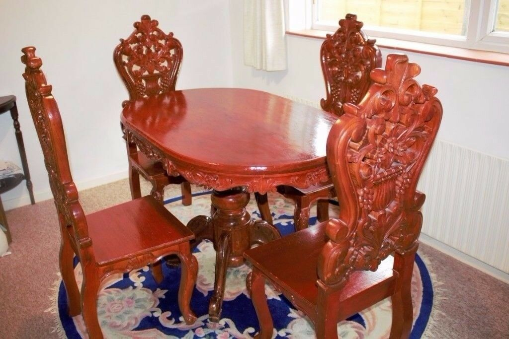 Dining Table Amp 4 Chairs Narra Wood Very Hard Amp Long Lasting In Norwich Norfolk Gumtree
