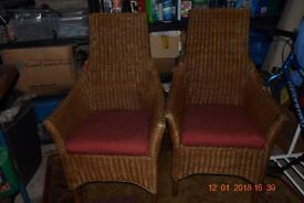 2 Wicker Chairs for sale.