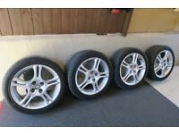 GENUINE MX5 Mk 2, 2.5 ALLOY WHEELS AND TYRES 16""
