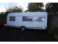 HYMER CARAVAN NOVA 570 .3 BERTH. reg 2004. 2 CAREFUL OWNERS £5250 ONO EXCELLENT CONDITION CONDITION