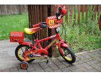 """Apollo Firechief Red Bicycle Bike Stabilisers 12"""""""