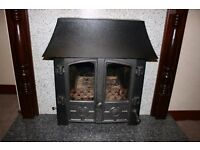 Hunter Stratford inset Multi fuel Boiler Stove 2.7kw to room 12.7kw to water