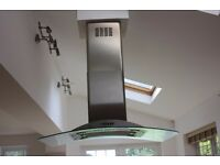 SMEG cooker hood, glass and stainless steel