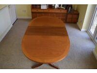 Nathan Teak Oval Pedestal Dining Table