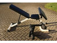 Marcy heavy duty weights bench / utility bench / dumbell bench with leg extension and preacher curl