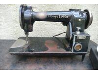 US American WILLCOX & GIBBS industrial sewing machine made around 1871. Type C-2088 serial No 180479