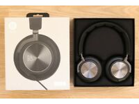 B&O PLAY by Bang & Olufsen Beoplay H6 On-Ear Headphones - Black Leather - NEW