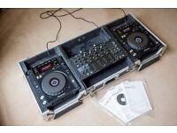 2x Pioneer CDJ 850 Decks + 1x Pioneer DJM 5000 Mixer + 1x TIP Flight Case