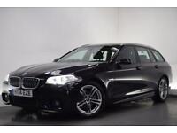 BMW 5 SERIES 2.0 520D M SPORT TOURING [SAT NAV/LEATHER] 5d AUTO (black) 2014