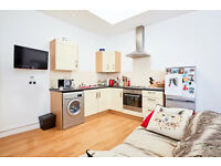 1 BEDROOM FLAT/BRIGHT RECEPTION ROOM/OPEN PLAN KITCHEN/BATHROOM/FURNISHED/AVAILABLE MID JULY