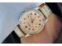 1940's Nicolet chronograph wrist watch Landeron 39 vintage £399