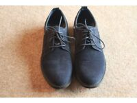 Pair of Red Herring Mens Navy Suede Shoes Size 8/42