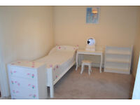 Childs Furniture Set. Bed Frame, Mattress, Bookcase, Drawers, Desk & Stool