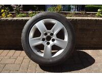 Genuine Audi alloy with tyre