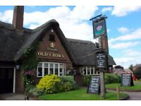Kitchen Porters required at The Old Crown, Girton - Excellent Rates of Pay