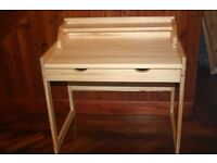 Child's Desk with Drawer in light pine