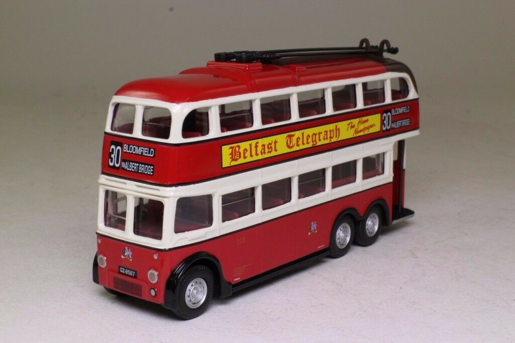 TWO BELFAST CORPORATION MODEL BUSES