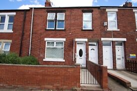 Unfurnished two bedroom ground floor flat for rent situated in Felling on Stuart Terrace