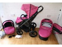 Venicci pram travel system and extras 3 in 1 - pink denim CAN POST