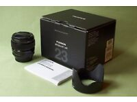 Fujinon Fuji XF 23mm f/1.4 R lens in mint condition