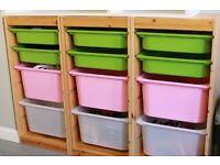 Ikea storage boxes / Trofast