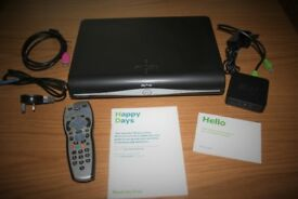 Sky+ HD Box with Wireless Connector, including remote, Sky HDMI and mains leads and set up guides