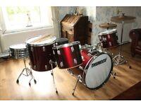 Thunder Drum Kit - 5 piece drum kit Hi-Hat, Cymbal, Stands Flix Brushes Bundle